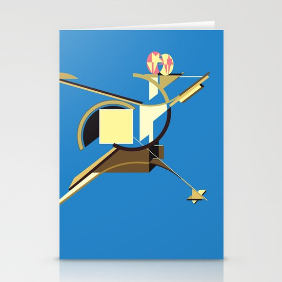 Space Ship Stationery Card