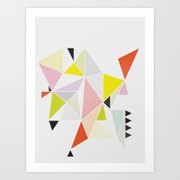 Multicolor Geometric Art Print