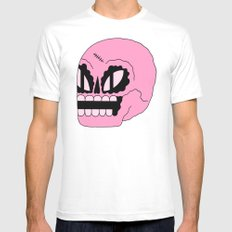 Cosmic Skull White Mens Fitted Tee SMALL