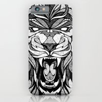 iPhone & iPod Case featuring Angry Lion - Drawing by Andreas Preis