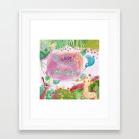 To whom it may concern, it is Springtime. Framed Art Print