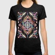 Summer Festival Pop Womens Fitted Tee Tri-Black SMALL