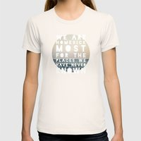 Homesick Womens Fitted Tee Natural SMALL
