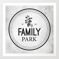 Family Park Art Print