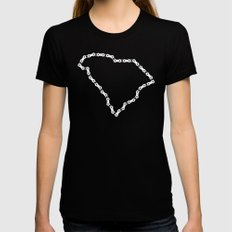 Ride Statewide - South Carolina Womens Fitted Tee Black SMALL