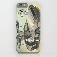 Lost, searching for the DeathStarr _ 2 Stormtrooopers in a DeLorean  iPhone 6 Slim Case