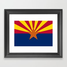 Arizona State flag, Authentic version - color and scale Framed Art Print