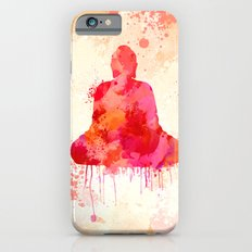Red Buddha Watercolor art iPhone 6 Slim Case
