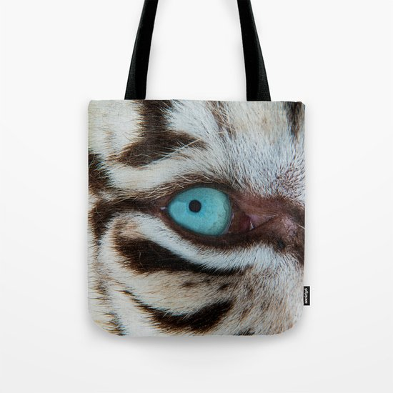 WHITE TIGER BEAUTY Tote Bag