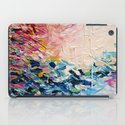 PARADISE DREAMING Colorful Pastel Abstract Art Painting Textural Pink Blue Tropical Brushstrokes iPad Case
