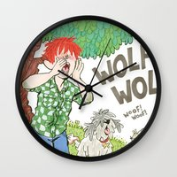 The Boy Who Cried Wolf Wall Clock