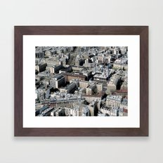 Paris Architecture from above Framed Art Print