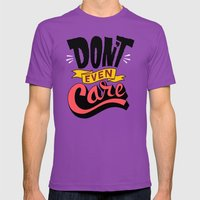 Don't Even Care Mens Fitted Tee Ultraviolet SMALL