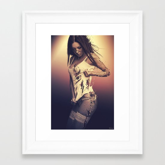 Fractured 01 Framed Art Print