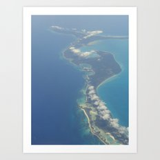 Flying Over Paradise Art Print