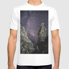 space SMALL White Mens Fitted Tee