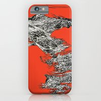 iPhone & iPod Case featuring Waterfall in Red by Maddie Wainwright