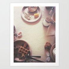 Continental Breakfast Art Print