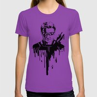 Avengers In Ink: Hawkeye Womens Fitted Tee Ultraviolet SMALL