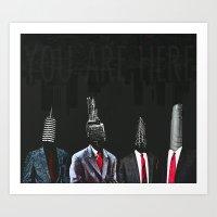 Youarehere Art Print