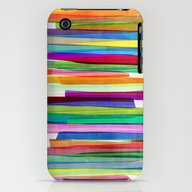 Colorful Stripes 1 iPhone (3g, 3gs) Slim Case