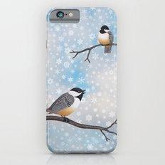 Chickadees In Snow iPhone 6 Slim Case