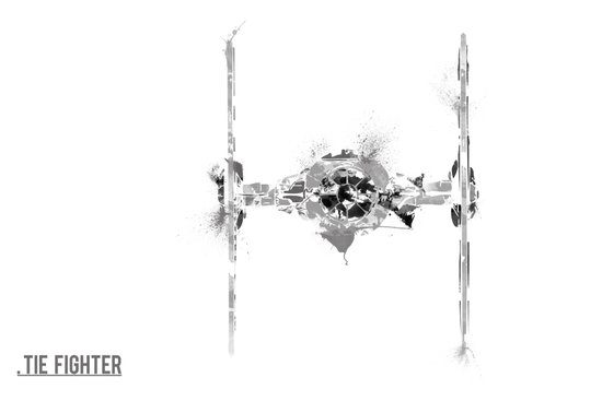 Star Wars Vehicle Tie Fighter Art Print