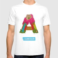 + Amour Mens Fitted Tee White SMALL