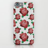 Rose & Dots Pattern iPhone 6 Slim Case