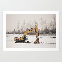 Excavator Art Print