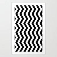 PATTERN#01 =STRIPES/BLACK+WHITE= Art Print
