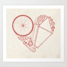 Love Bike Art Print