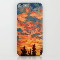 iPhone & iPod Case featuring Fire Sky  by Leanna Rosengren