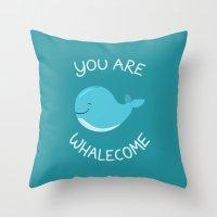 Whale, thank you! Throw Pillow