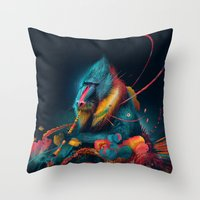 color madril Throw Pillow