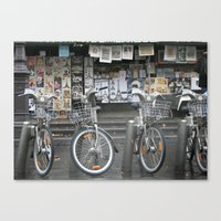 Vélo Paris Canvas Print
