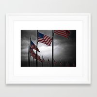 A Storm is Brewing Framed Art Print