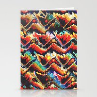 Colorful Geometric Motif Stationery Cards