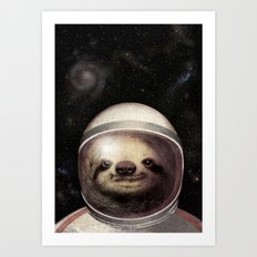 Space Sloth  Art Print