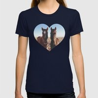 Horse Friends Womens Fitted Tee Navy SMALL