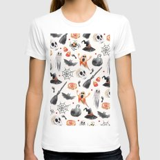 HALLOWEEN6 Womens Fitted Tee White SMALL