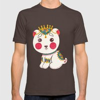 The Ethnic Polar Bear Mens Fitted Tee Brown SMALL