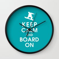 Keep Calm And Board On Wall Clock