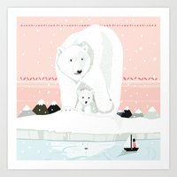 The White Bears And The … Art Print