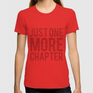 Just One More Chapter  Womens Fitted Tee Red SMALL