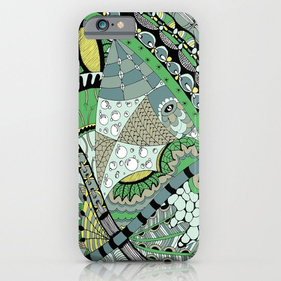 The fish who dreamed of sunflowers and buttons iPhone & iPod Case