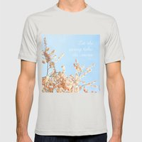 Let the spring takes its course Mens Fitted Tee Silver SMALL