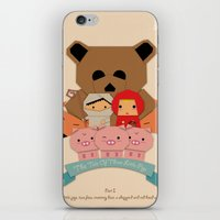 3 little pigs iPhone & iPod Skin