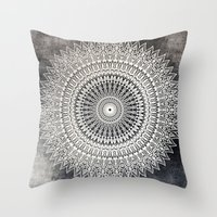 DESERT MOON MANDALA Throw Pillow