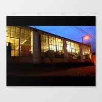 Canvas Print featuring Windows at night by Vorona Photography